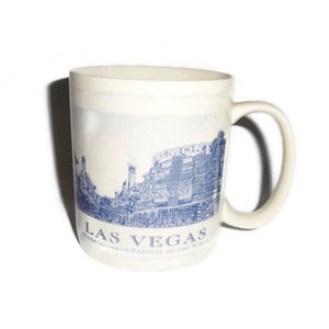 New Starbucks Las Vega City Mug Blue White 2006